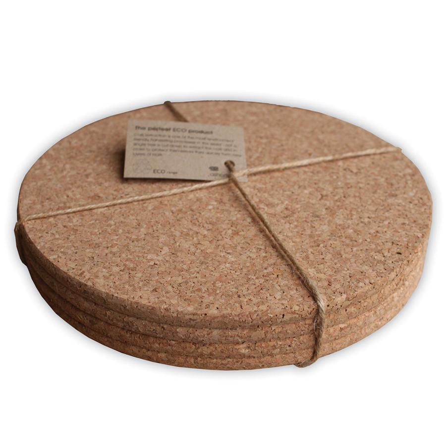House Accessories ashortwalk Set of 4 Eco Cork Placemats