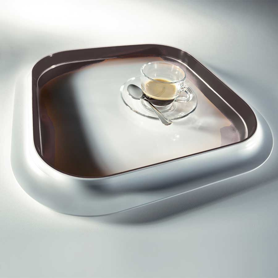 Cookware & Utensils Mebel 36 x 36 x 3cm Black Entity 6 Square Tray